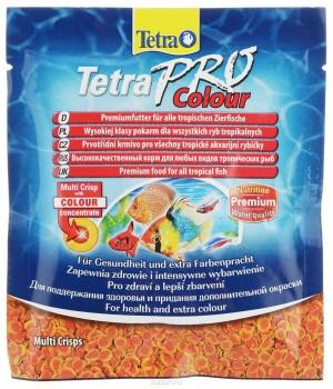 Тетра Про Колор 12 гр - высококачественный корм для улучшения окраса рыбы в виде чипсов