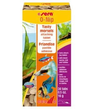 Корм Сера O-nip 24 таб. - корм для всех рыб морских и пресных аквариумов в виде таблеток
