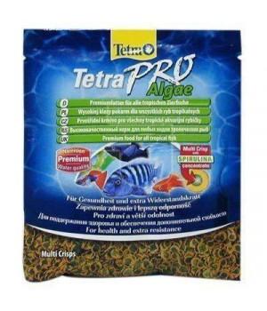 Тетра Про Альго 12 гр - высококачественный корм с высоким содержанием спирулины в виде чипсов