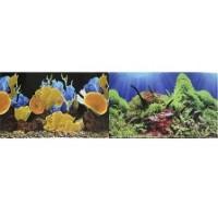 Фон 9096 Морские кораллы / 9097 Подводный мир- двусторонний 50*100 см