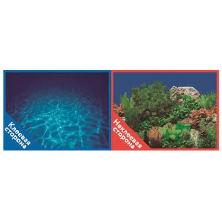 Фон 9063 Синее море / 9071 Подводный мир- двусторонний 30*60 см