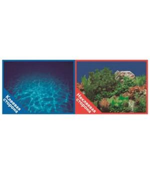 Фон 9063 Синее море / 9071 Подводный мир- двусторонний 50*100 см