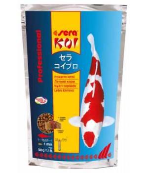 Корм Сера Кои Professional Лето 500г - основной корм для прудовых рыб при температуре 17+