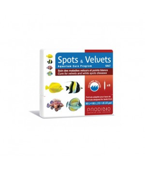 Spots & Velvets Salt кондиционер при белоточечных заболеваниях морских рыб (12шт)