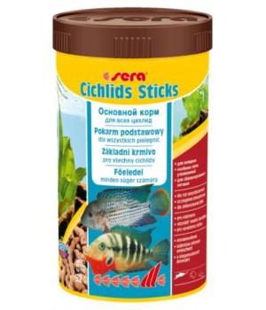 Корм Сера Цихлид Стикс 250 мл - корм для цихлид и других крупных рыб в виде плавающих палочек