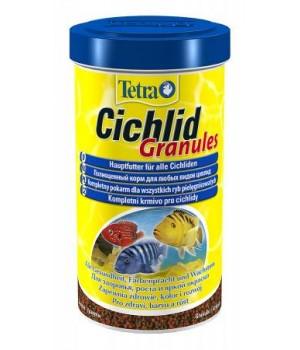 Тетра Цихлид Гранулес 500 мл - смесь грнул для средних и больших цихлид
