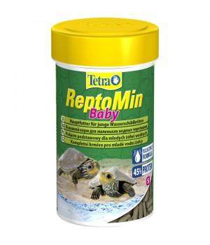Тетра РептоМин Бэйби 100 мл - полноценный корм для молодых водных черепах в виде мини палочек