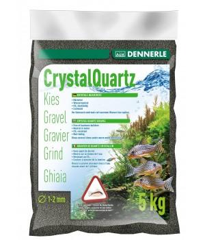 Грунт DENNERLE CRYSTAL QUARTZ GRAVEL, черный 1-2мм, 5кг