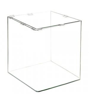 Аквариум PRIME  бесшовный 27л 300*300*300 мм с покровным стеклом и подложкой