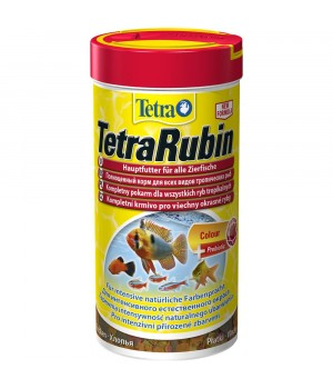 Тетра Рубин 1000 мл - корм для усиления окраса рыб в виде хлопьев