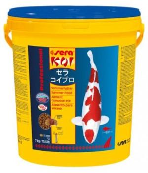 Корм Сера Кои Professional Лето 7 кг - основной корм для прудовых рыб при температуре 17+