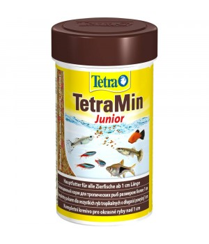Тетра Мин Юниор 100мл - специальный корм способствующий росту мальков в виде хлопьев
