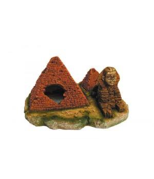 Декорация пластиковая PRIME Пирамиды с Сфинксом 17х16х8.5см PR-PE189
