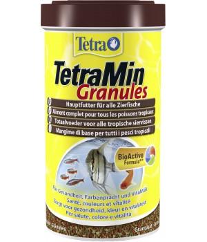 Тетра Мин гранулес 1000 мл - гранулированный корм для всех видов декоративных рыб