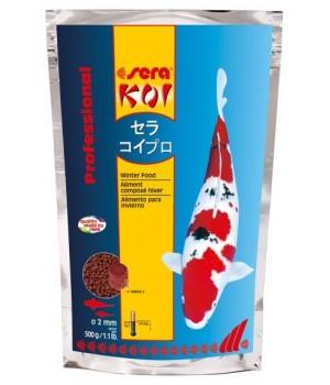 Корм Сера KOI Рrofessional зима 500г - основной корм для прудовой рыбы зимнее кормление