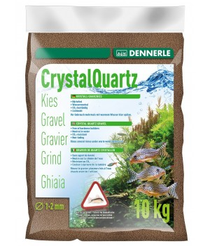 Грунт DENNERLE CRYSTAL QUARTZ GRAVEL, темно-коричневый  1-2мм, 10кг