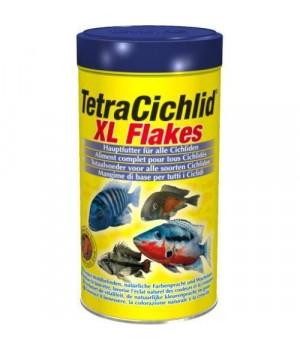 Тетра Цихлид  XL флекес 1000 мл - основной корм для всех видов цихлид в виде хлопьев