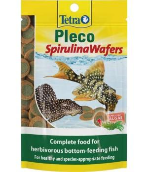 Тетра Плеко Спирулина Ваферс 15г - растительный корм премиум-класса для питающихся на дне рыб