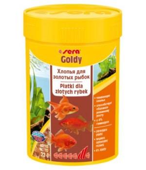 Корм Сера Голди 100 мл - основной корм для золотых рыб в виде хлопьев