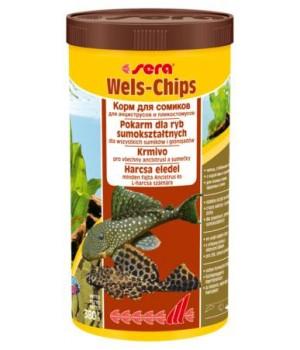 Корм Сера Велс-чипс 1000мл - основной корм для сомиков в виде чипсов