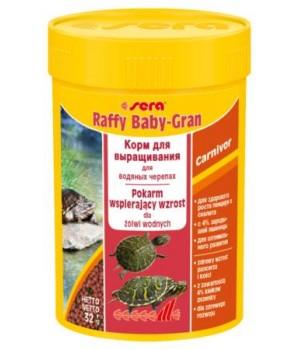 Корм Сера Raffy Baby-gran 100 мл - основной корм для молодых водных черепах и ящериц в виде гранул