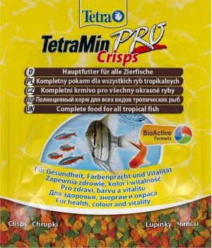 Тетра Мин Про - криспс 12 гр - основной корм для всех декративных рыб в виде чипсов