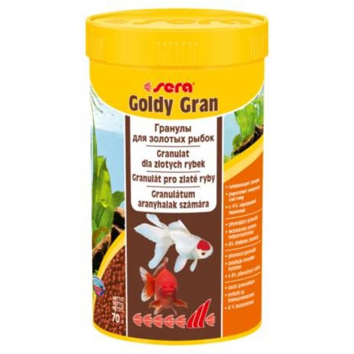 Корм Сера Голди Гранулес 250 мл - основной корм для золотых рыб в виде гранул