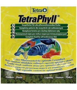 Тетра Фил 12 гр - сбалансированный корм для травоядных рыб в виде хлопьев