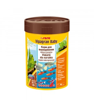 Корм Сера Випагран Бэйби 100 мл - основной корм для всех видов мальков в виде гранул