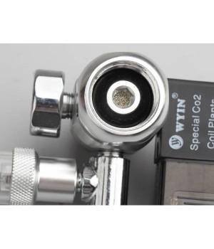 Редуктор + манометр+ электромагнитный клапан+счетчик пузырьков
