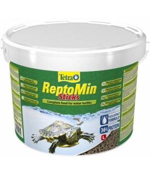 Тетра РептоМин 10л - основной полноценный корм для водных черепах в виде палочек