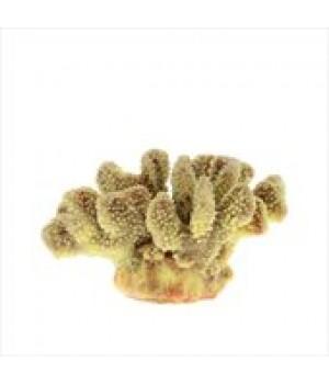 Декор из силикона Коралл жёлтый мягкий 19*13*10,5см