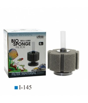 Фильтр аэрлифтный с круглым основанием S. Высота 9,3/16 см, губка цилиндр 5см х 8,5см(диаметр)