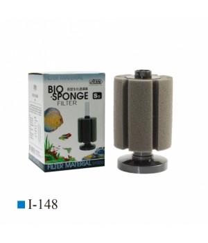 Фильтр аэрлифтный с круглым основанием высокий S.Высота 14,5/20 см, губка цилиндр 10см х 8,5см(диаме