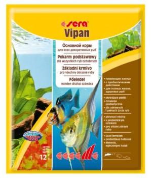 Корм Сера Випан 12 гр - основной корм для всех видов рыб в виде хлопьев