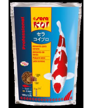 Корм Сера Кои Professional Лето 1 кг - основной корм для прудовых рыб при температуре 17+