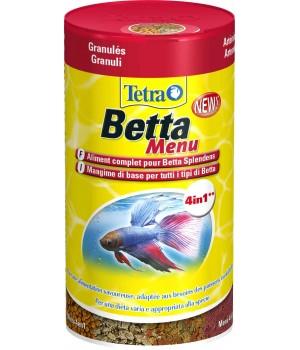 Тетра Бетта Меню 100 мл - Основной корм и вкусное питание для бойцовых и лабиринтовых рыбок.