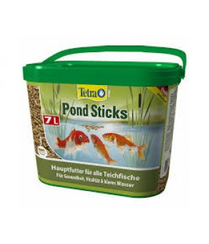 Тетра Понд Стикс 7 л (ведро)- основной корм для всех видов прудовых рыб в виде плавающих палочек