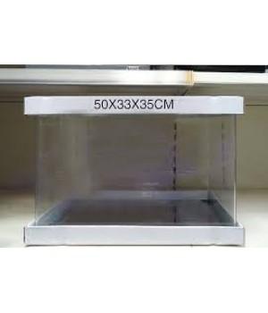 Аквариум PRIME  бесшовный 57л 500*330*350 мм с покровным стеклом и подложкой