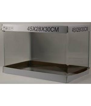 Аквариум PRIME  бесшовный 37л 450*280*300 мм с покровным стеклом и подложкой