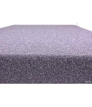 Губка фильтрующая пенополиуритановая 50х500х500мм PPI 30 черная