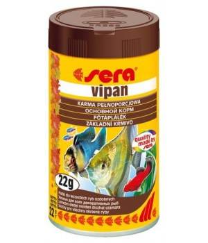 Корм Сера Випан 100 мл - основной корм для всех видов рыб в виде хлопьев