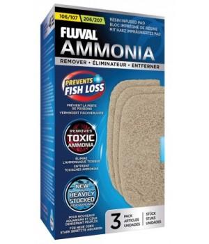 Губка пористая AMMONIA REMOVER с ионообменной смолой для фильтров fluval 107/207. A257