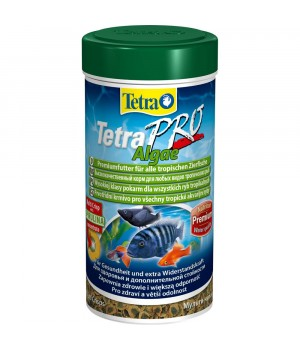 Тетра Про Альго 500 мл - высококачественный корм с высоким содержанием спирулины в виде чипсов