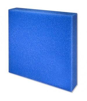 Губка фильтрующая пенополиуритановая 50х500х500мм PPI 20 синяя